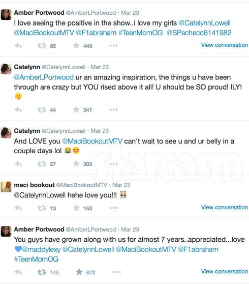 Teen Mom OG cast positive tweets during premiere