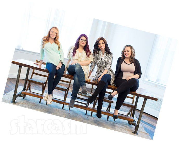 Teen Mom OG cast photo tilted