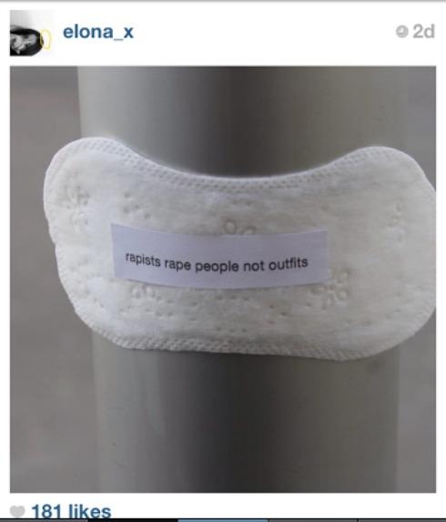 Woman Uses Maxi Pads, Social Media To Shame Rape Apologists