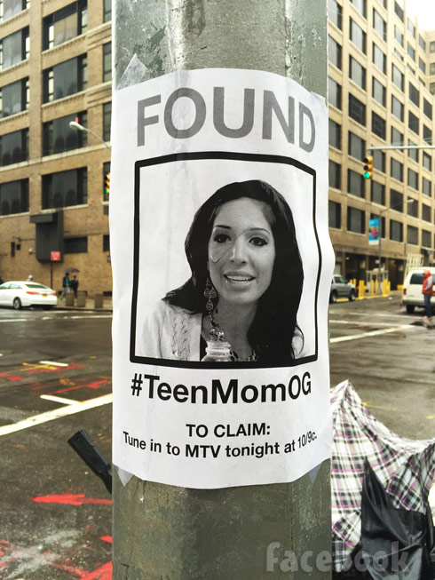 Farrah Abraham missing found poster MTV