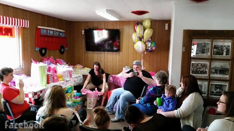 Gary Shirley's girlfriend Kristina baby shower