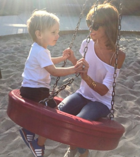 Giuliana Rancic and Son Duke