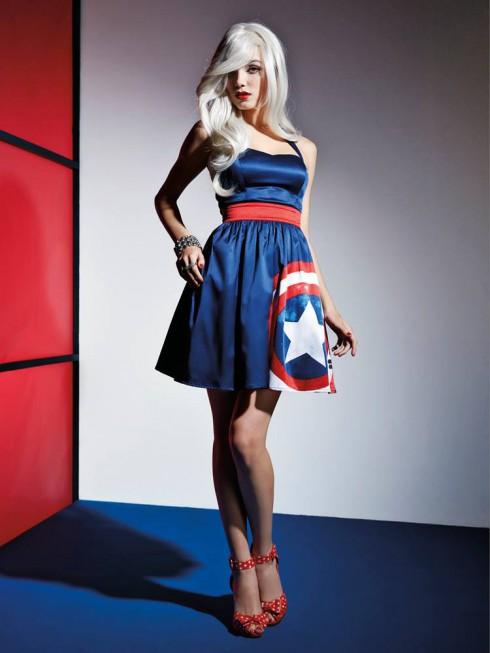 Hot Topic Marvel Captain America dress