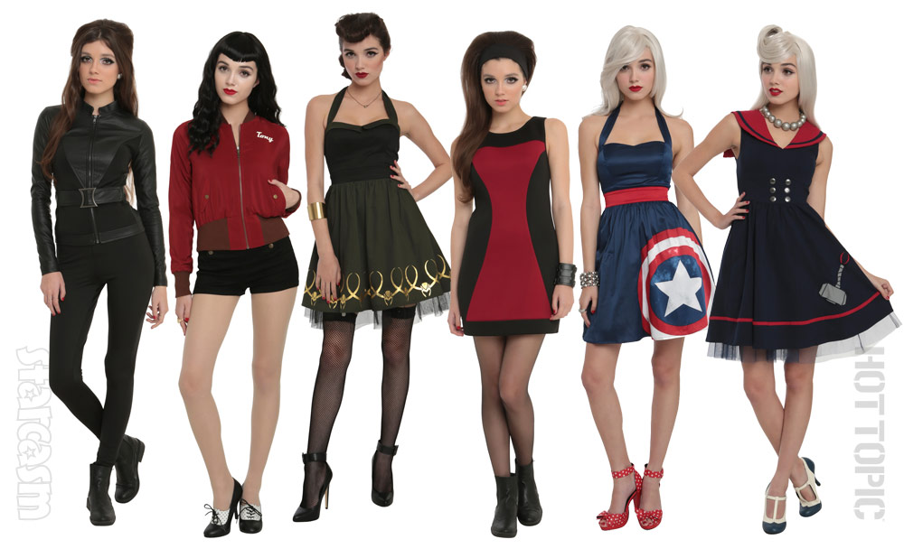 Hot Topic Marvel Avengers line