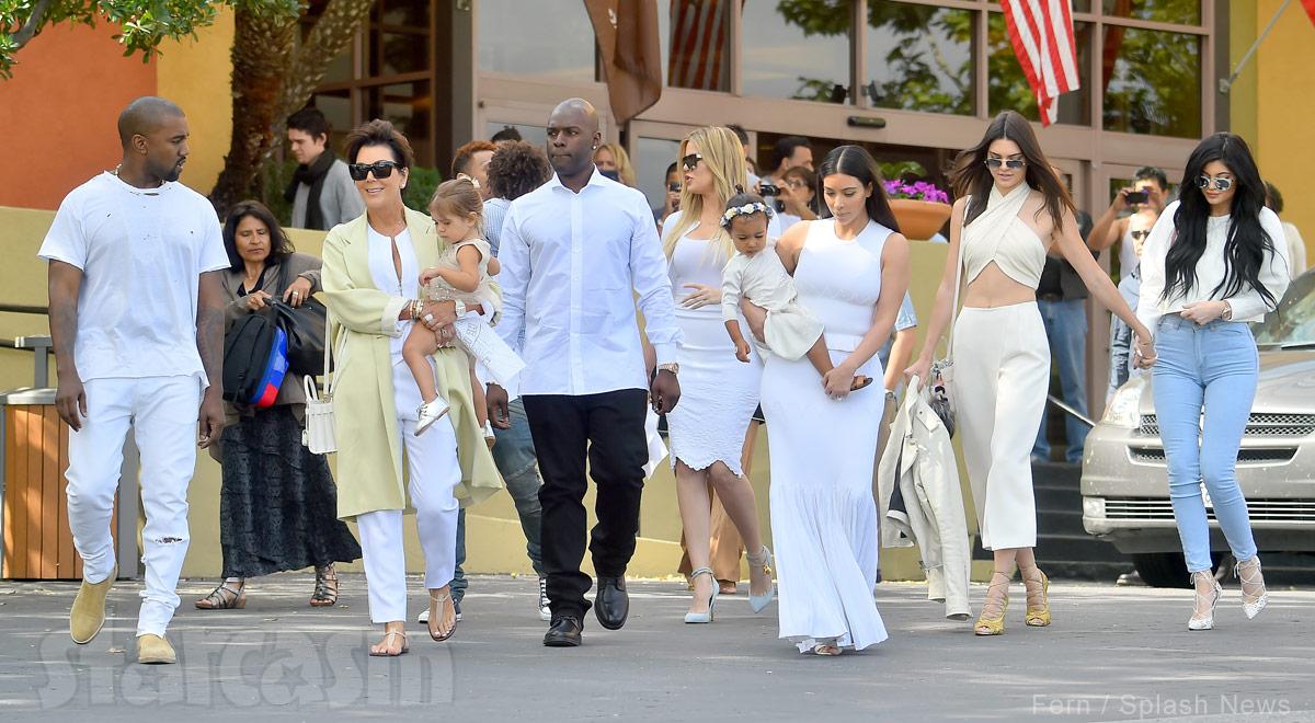 Kardashian family Easter church