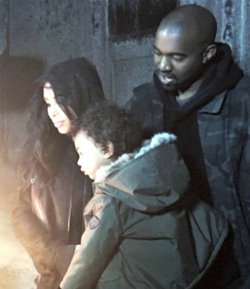 Kim Kardashian Kanye West North West in Armenia