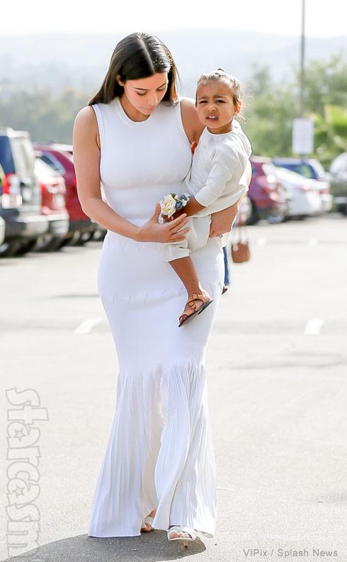 Kim Kardashian North West Easter church