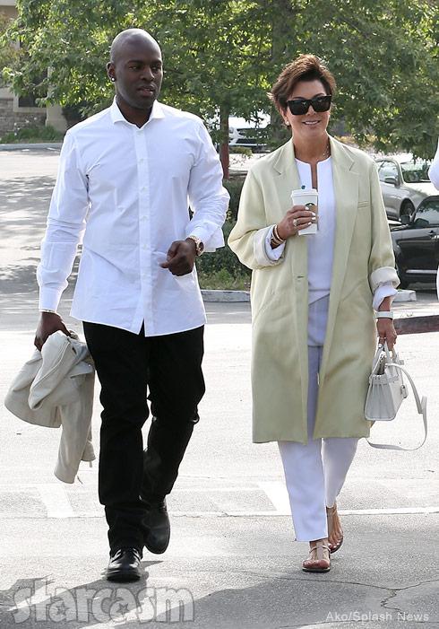 Kris Jenner and boyfriend Corey Gamble church