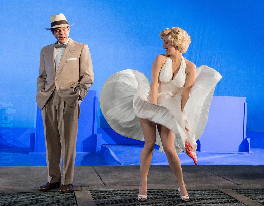 Secret Life of Marilyn Monroe white dress updraft Seven Year Itch Kelli Garner