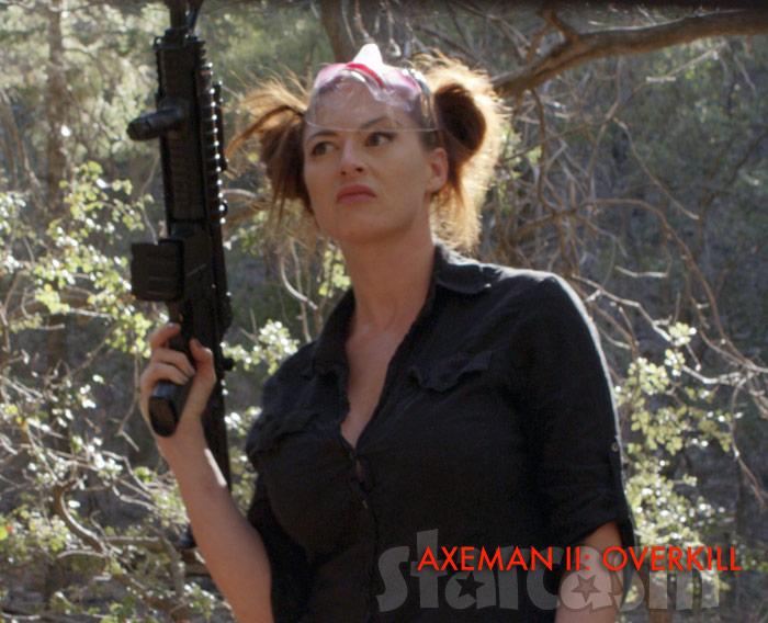 Rachel Reilly as BREAKER in the slasher horror movie Axeman II: Overkill