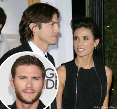 Who did Ashton Kutcher cheat on Demi Moore with