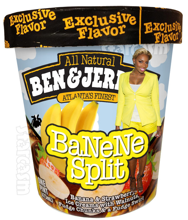 Ben and Jerry's Ice Cream flavor BaNeNe Split for NeNe Leakes