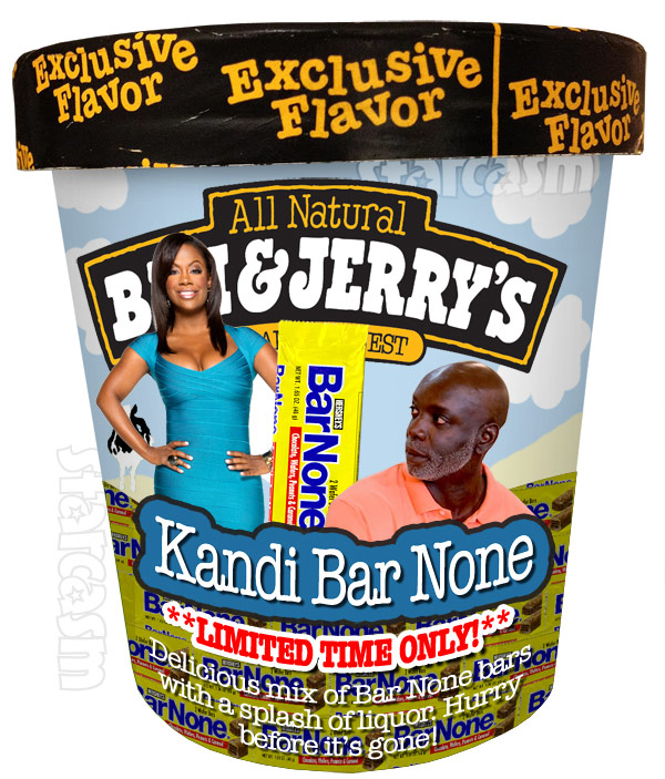 Ben and Jerry's Ice Cream flavor Kandi Bar None for Kandi Burruss and Peter Thomas