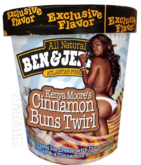 Ben and Jerry's Ice Cream flavor Kenya Moore Cinnamon Buns Twirl