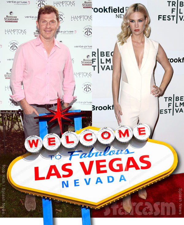 Bobby Flay and January Jones together in Las Vegas in 2010?