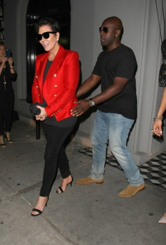 Kris Jenner and her boyfriend dine out with Kyle Richards at Craig's restaurant in West Hollywood, CA Pictured: Kris Jenner , Corey Gamble Ref: SPL1032783 200515 Picture by: Roshan Perera /Splash News Splash News and Pictures Los Angeles: 310-821-2666 New York: 212-619-2666 London: 870-934-2666 photodesk@splashnews.com