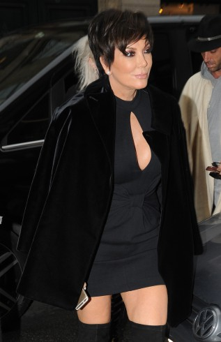 Kris Jenner visits Yves Saint Laurent and Givenchy before meeting daughter Kendall for lunch at a restaurant in Paris Featuring: Kris Jenner Where: Paris, France When: 26 Jan 2015 Credit: WENN.com **Not available for publication in France**