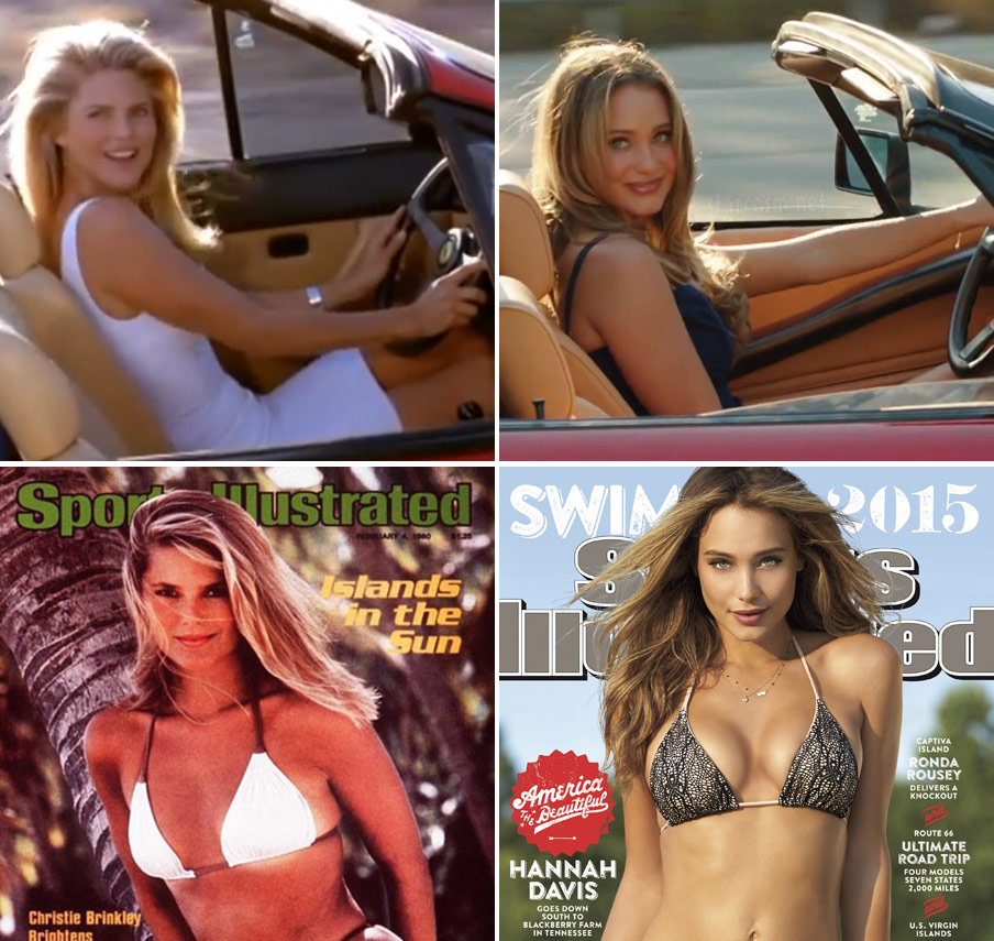 Christie Brinkley Hannah Davis SI covers