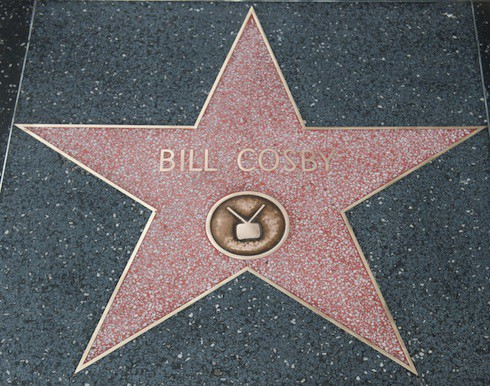 Bill Cosby's star on the Hollywood Walk of Fame is cleaned up after vandals defaced the honour by scrawling the word 'rapist' all over the sidewalk plaque
