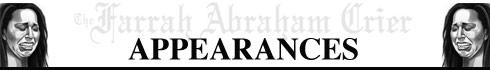 Farrah Abraham Crier appearances