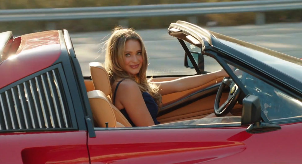 Who Is The Girl In The Red Ferrari In Vacation Hannah Davis