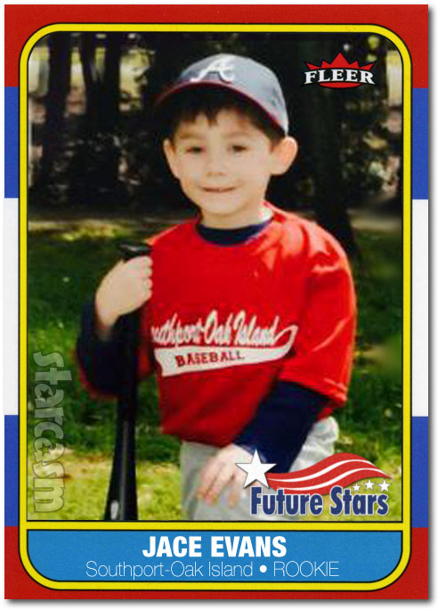 Jace Evans rookie baseball card