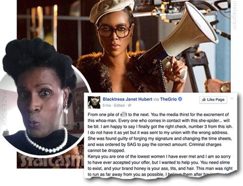 Kenya Moore Janet Hubert Life Twirls On feud