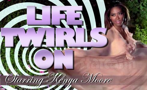 Kenya Moore Life Twirls On