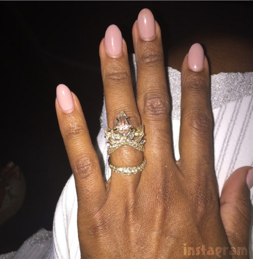 Kenya Moore engagement ring Instagram photo from May 2015 Anything can happen in Vegas
