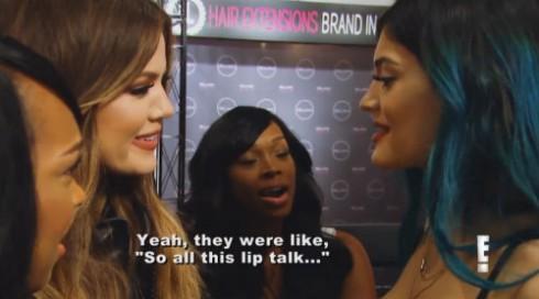 Khloe Kardashian on Kylie Jenner's Lips