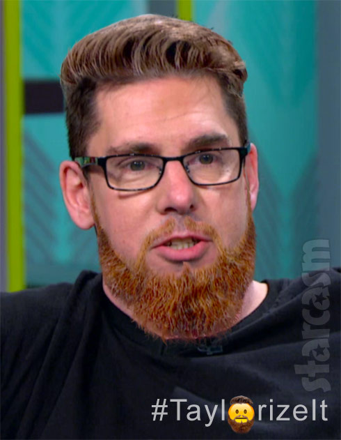 Matt Baier with Taylor McKinney's beard Taylorize It