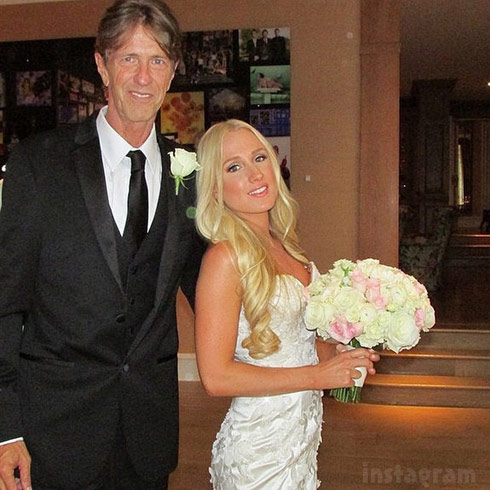 Monty Brinson and daughter Brooke Wiederhorn wedding photo 2014