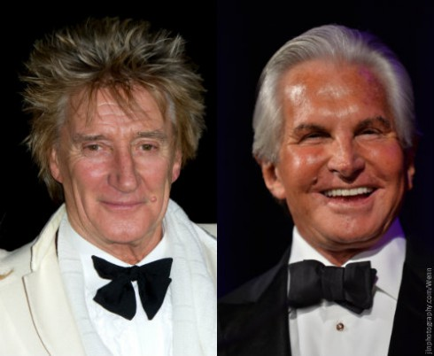 Rod Stewart and George Hamilton