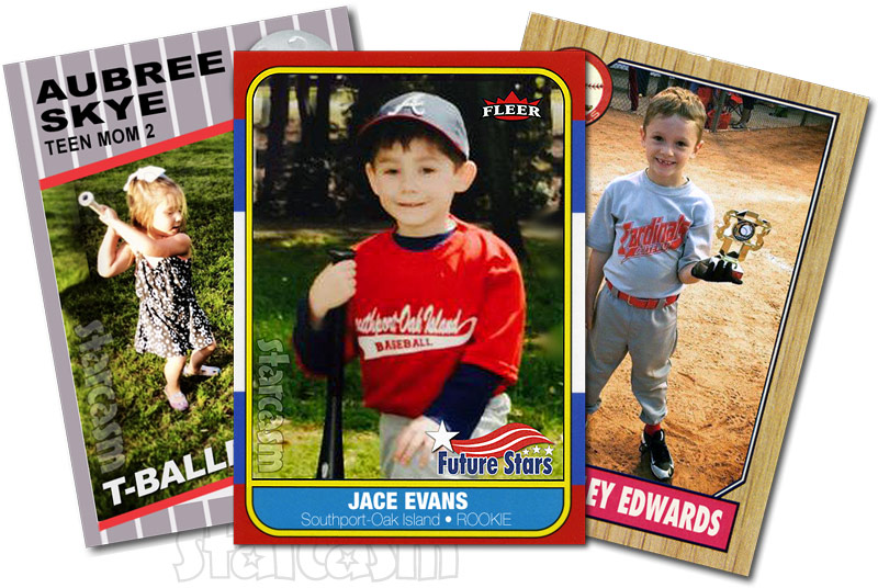 Teen Mom kids baseball cards Aubree Skye Jace Edwards Bentley Edwards