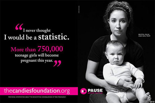 Bristol Palin Candie's Foundation ad