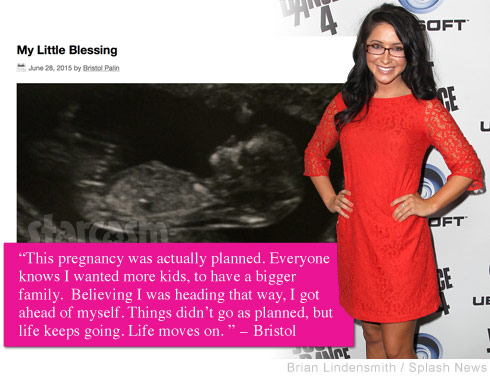 Bristol Palin pregnant sonogram reacts to haters