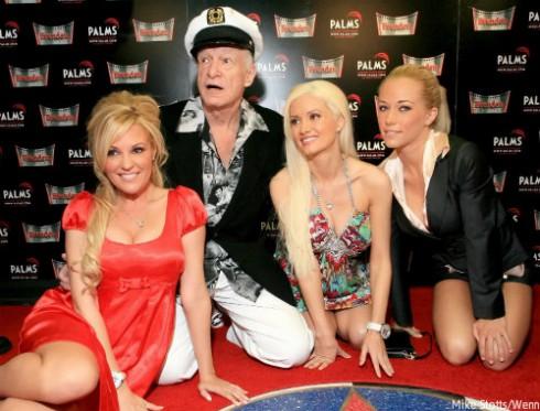 Girls Next Door Stars and Hugh Hefner