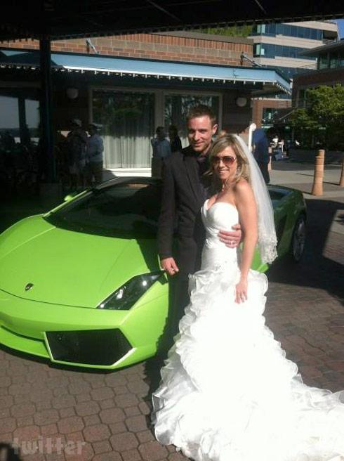 Jake Anderson wedding Lamborghini