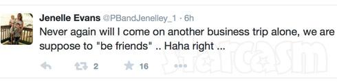 Jenelle Evans NYC 2015 tweet