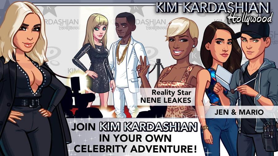 NeNe Leakes Kim Kardsahian Hollywood app