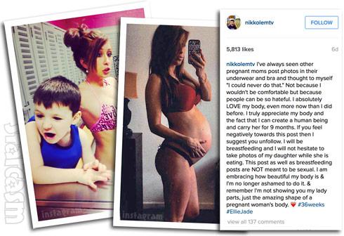 Nikkole Paulun pregnancy photos