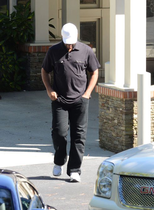 Tyler Perry visits Bobbi Kristina at Peachtree Christian Hospice in GA Pictured: Tyler Perry Ref: SPL1065602  280615   Picture by: Jason Winslow / Splash News Splash News and Pictures Los Angeles: 310-821-2666 New York:212-619-2666 London:870-934-2666 photodesk@splashnews.com