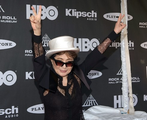 Rock and Roll Hall of Fame Inductees 2015 Featuring: Yoko Ono Where: Cleveland, Ohio, United States When: 18 Apr 2015 Credit: Michael Harvilla/WENN.com