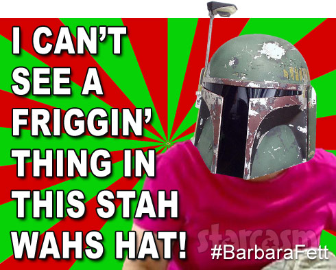 Barbara Fett Babs Evans and Boba Fett Star Wars mash up