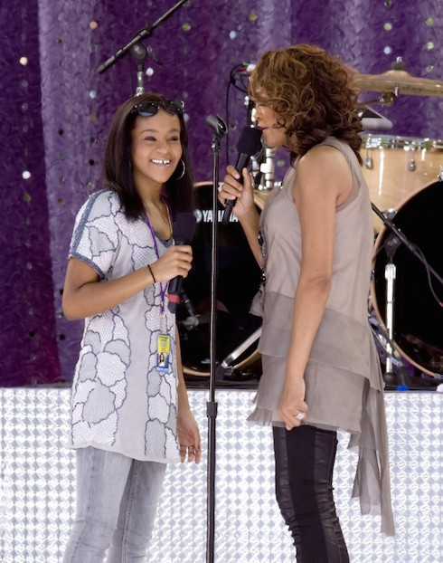 Bobbi Kristina Brown and Whitney Houston Whitney Houston performing live on 'Good Morning America's Summer Concert Series' at Rumsey Playfield Featuring: Bobbi Kristina Brown and Whitney Houston Where: New York City, United States When: 01 Sep 2009 Credit: WENN **Not available for publication in USA Magazines**