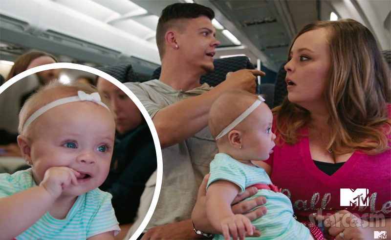 Teen Mom Catelynn Lowell Tyler Baltierra Novalee Reign in Mission Impossible Rogue Nation commercial