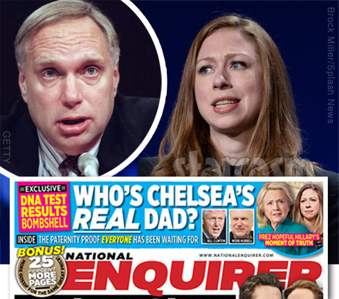 Chelsea Clinton Webster Hubbell dad real father