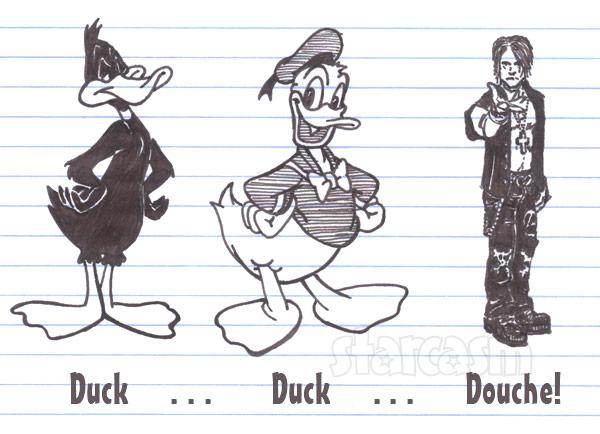 Criss Angel duck duck douche