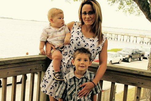 Teen Mom 2's Jenelle Evans with sons Kaiser and Jace