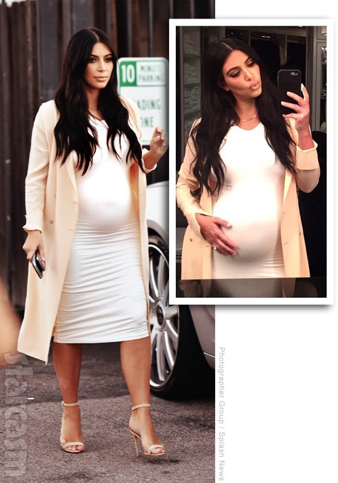 Is Kim Kardashian's baby bump fake?